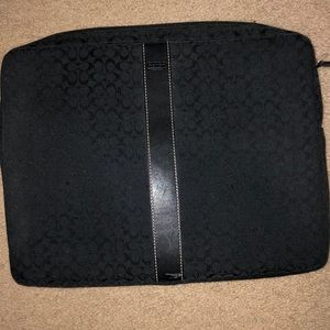 Coach laptop case